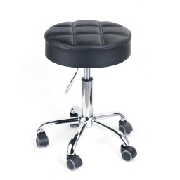 Leopard Round Rolling Stools,Adjustable Work Stool With Wheels   Black  Promotion