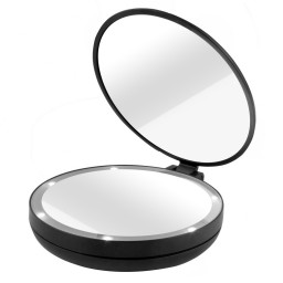 Double Sided 1x 5x Magnifying Travel Makeup Mirror With