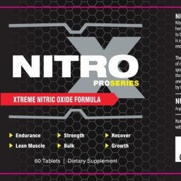ProSeries Nitro X Muscle Gain And Growth Supplement Promotion