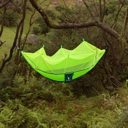 Medium image of leapair mosquito   camping hammock portable 2 person parachute nylon promotion