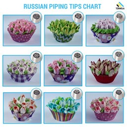 New Cake Decorating Tips From Russia : TERNOLA Russian Piping Tips Set Promotion #o8f3s8y4
