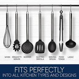 cooking utensils set - best stainless steel & silicone kitchen