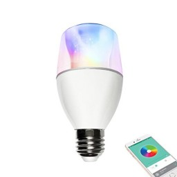 Bluetooth bulb led lighting speaker controlled by app with for Bluetooth controlled light bulb