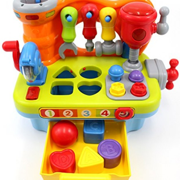 Musical Learning Toys : Ciftoys musical learning workbench toy promotion q k a r