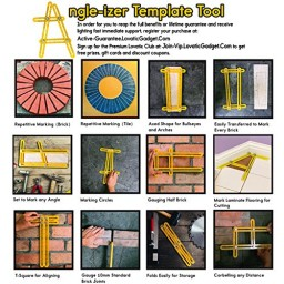 Lovatic Angle Izer Template Tool Angle Ruler With Improved Metal