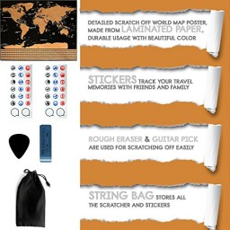 Scratch off world map poster travel tracker map with country scratch off world map poster travel tracker map with country flags promotion publicscrutiny Image collections