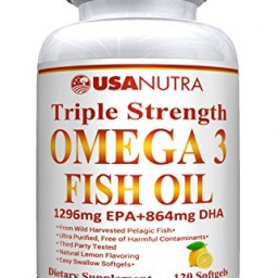 Omega 3 fish oil 3600mg best triple strength ultra pure for Viva naturals triple strength omega 3 fish oil