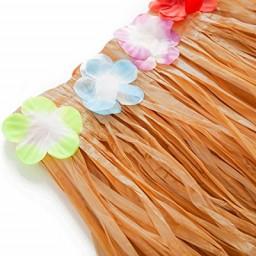 2pcs Luau Hawaiian Grass Table Skirt Decorations Hula