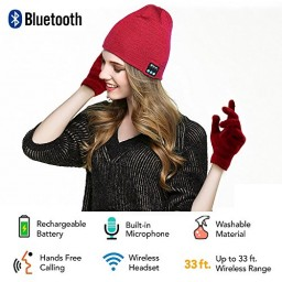 4064763edd2 Security Bluetooth Beanie Hat + Touchscreen Gloves