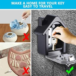 3a99f4744197 Allnice Key Lock Box, Wall Mounted Lock Box With 4-Digit Combination ...