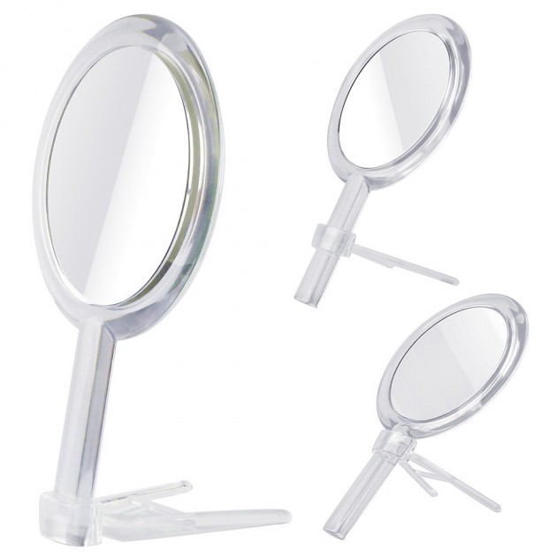 1x 7x Magnification Double Sided Hand Held Makeup Mirror