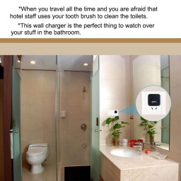 Puaroom 1080p hidden camera ac wall charger promotion for Hidden bathroom pics