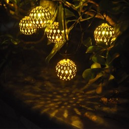 Solar String Lights Outdoor Lowes : Solar String Outdoor Lights - 25 Bulb Solar Powered Globe String Lights Gifts 25 50, 12 Led ...