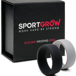 Silver New Wedding Rings Black Silicone Wedding Ring