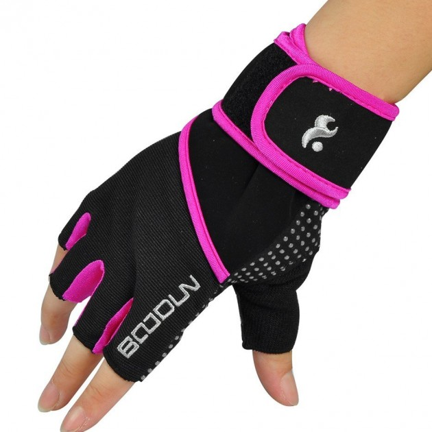Hompo Ladies Gloves Bodybuilding Fitness Weight Lifting: Weight Lifting Gloves For Women & Men With 45cm Wrist Wrap