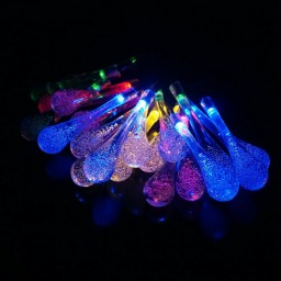 20LED Multi-colored Solar Outdoor Decorative String Lights Promotion #p9j6n5t5