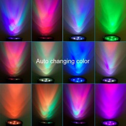 Auto Color Changing 4led 200lumens Solar Spotlight