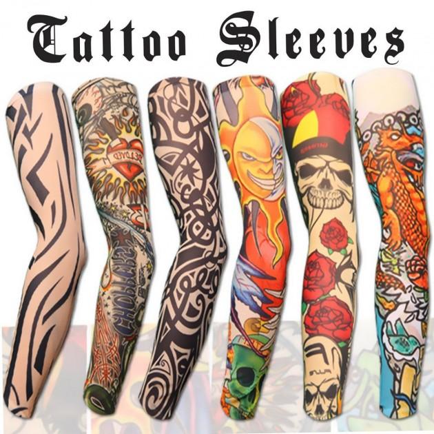 6pcs Set Arts Fake Temporary Tattoo Arm Sleeves Promotion T4k7a7u3