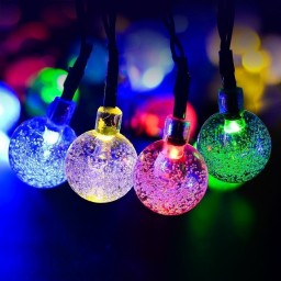 20ft 30 LED Crystal Ball Waterproof Outdoor String Lights Promotion #u6a0x1u3