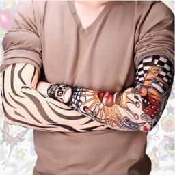 6pcs set arts fake temporary tattoo arm sleeves promotion for Fake tattoo sleeves toronto