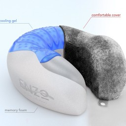 clark products gel cooling neck lewis n memory pillow foam