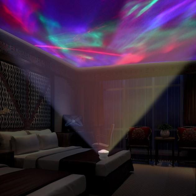 Aurora Borealis Projector Speaker Led Decorative Night