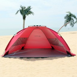 Leader Accessories EasyUp Beach Tent C&ing Tent (Red) Promotion & Leader Accessories EasyUp Beach Tent Camping Tent (Red) Promotion ...